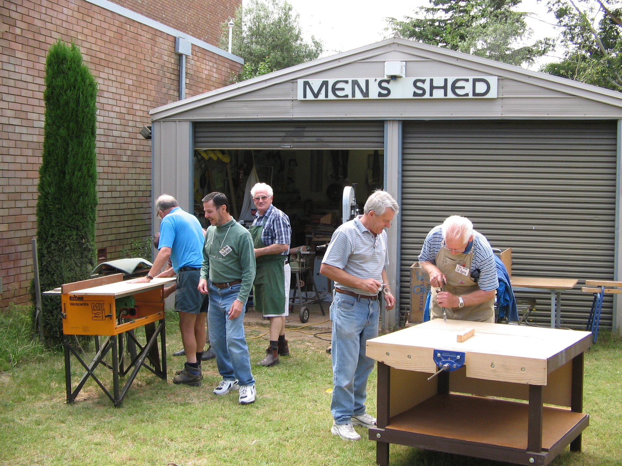 Men s sheds barry golding Australia home and garden tv show